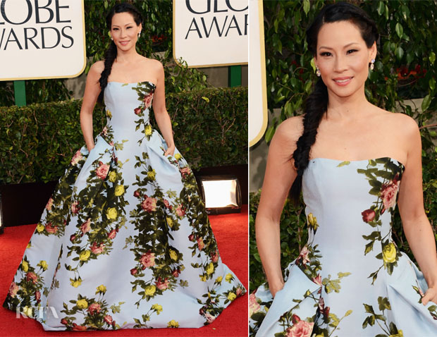 Lucy-Liu-In-Carolina-Herrera-2012-Golden-Globe-Awards